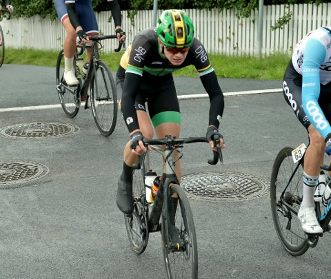VAR MED I SPURTEN: Rasmus Børset Westad kjempet om NM-medalje i gateritt, men endte til slutt på åttendeplass.