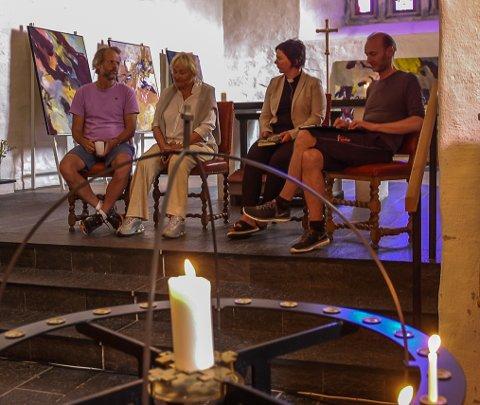 PILEGRIM: Erling Kagge, Toppen Bech, Ragnhild Jepsen og Knut Olav Åmås har alle et personlig forhold til Pilegrimsreiser.