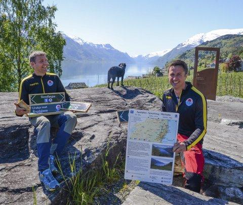 Solnut: Asbjørn Nå og Jonas Aakre turgruppa oppgradert og skiltet. Arkivfoto: Mette Bleken