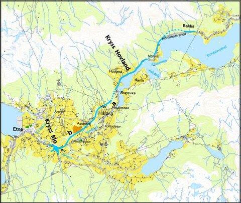 kart over etne Haugesunds Avis   Foreslår ny E 134 langt fra Knapphus kart over etne