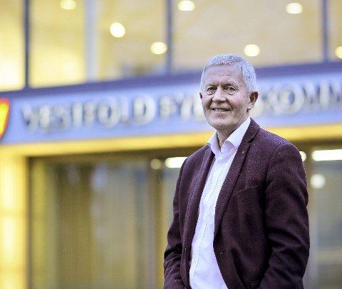 STRATEGISK: Fylkesrådmann Øyvind Sørensen mener Holmestrand og Sande har en viktig strategisk posisjon i det nye fylket.