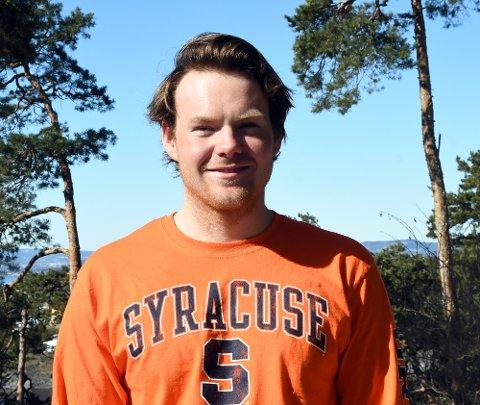 FLYTTER: Nicolay Bjønnes Yngsdal forlater trygge omgivelser på Malmøya når han i august går i gang med studiene i USA.