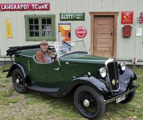TRIVELIG BIL: Med en forsiktig start i 2006, har Bernt Einar Øen jobbet intenst med bilen de to siste årene. Den ble registrert på sankthansdagen 2020 og eieren har allerede hatt mange fine turer med den trivelige bilen.FOTO: DAG SKOGLUND