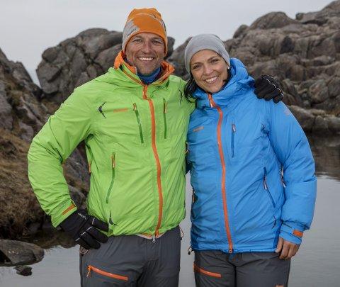 Fin turkamerat: Tom Stiansen har bare godord å si om Helga Østebrød og han kan anbefale henne som en turkamerat.foto: Matti Bernitz Pedersen/TV Norge