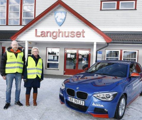 SAMARBEIDER: Grim Ketil Nordhus i Follo Trafikkteam og Grete Kullerud Bauck fra NAF Follo har et fint samarbeid. FOTO: STIG PERSSON