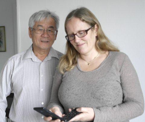 Godt samarbeid: Gründer, Richard Chan med Sintef-forsker Hanne Opsahl Austad.                          Foto: Jenny Strøm