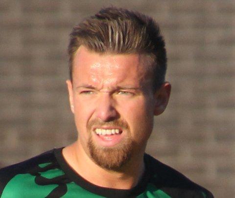 SCORET: Ole-Christian Moltzau, som her er avbildet i Skjetten-drakt i fjor, satte inn Skedsmo 3-0-mål mot Blaker på Bruvollen.