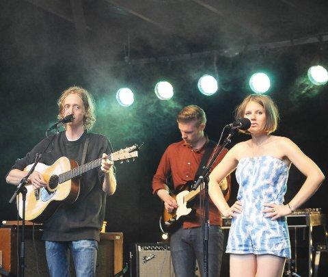 Furøya: Jonas Alaska og samboer Billie Van (Merete Pascual) var hovedtrekkplaster under Kystkulturuka i 2013.