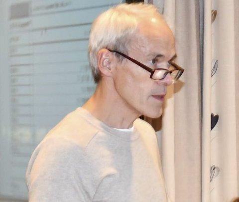 Engasjerte seg: Knut Olaf Lindtveit var svært engasjert da detkom til orienteringen om E18.