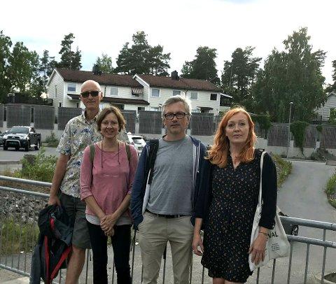 Aksjon: Styret i Beboeraksjon Nesodden (f.v.): Henrik Bang, Ruth Lothe, Petter Lang og Ruby Wikstrøm.