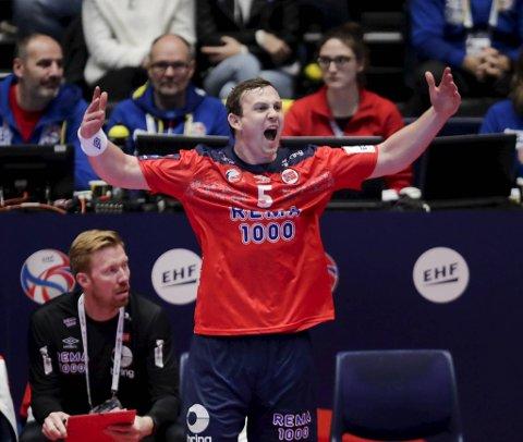 Sander Sagosen har vært strålende for Norge hittil under EM og allerede notert seg for 22 scoringer på de to første kampene.