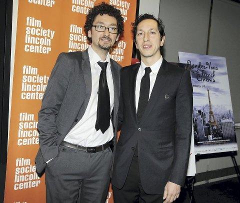 I new york: David Foenkinos (til venstre) og broren Stephane under premieren av filmen «Delicacy» i 2012.  FOTO: Amanda Schwab