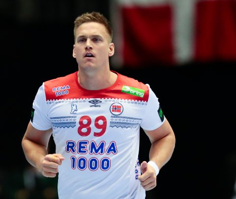 Espen Lie Hansen under kampen mot Norge og Chile i Håndball-VM 2019 i Danmark og Tyskland i Herning, Danmark tirsdag.