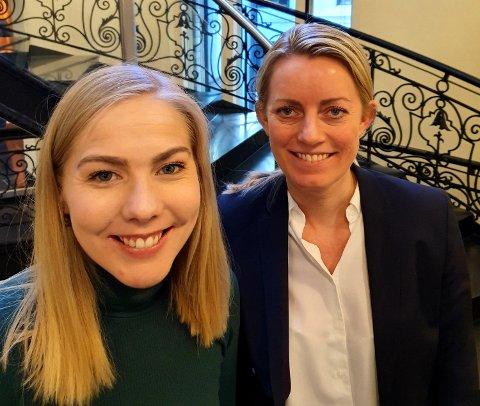 Camilla Strandskog og Mari Holm Lønseth (H), stortingsrepresentanter og medlemmer av helse- og omsorgskomiteen.