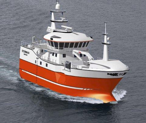 STORMHAV: Den nye Bremanger-båten Stormhav er på veg.