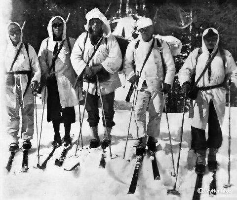 På Tonsåsen opererte ein skipatrulje av sterkt motiverte frivillige soldatar. Patruljen angreip tyskarane ved fleire høve i Begnadalen. Foto frå boka: