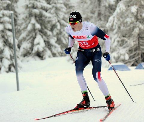 MARKERER SEG: Joachim Aurland har fått en god start på langrennssesongen og virkelig satt seg i respekt så langt i vinter.