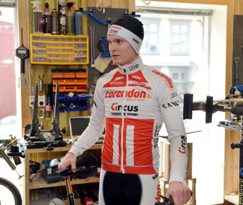 Petter Fagerhaug vant to av tre ritt i Rye Terrengsykkelfestival.