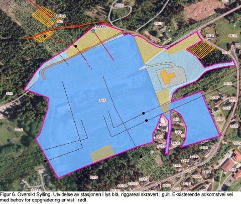 STORT OMRÅDE: Planene for den nye trafostasjonen omfatter et stort område på Oddevall.