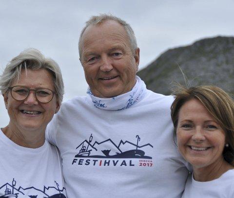 Familiebedrift: Familien Ellingsen troner på inntektstoppen i Lofoten. F.v: Aino Ellingsen, Ulf Ellingsen og Line Ellingsen. Bildet er tatt i anledning at familiebedriften feiret 70 år.