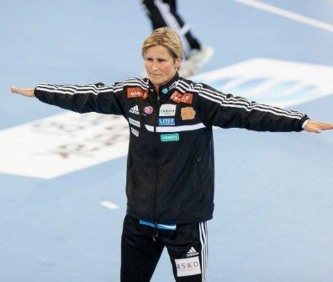 NY HOVEDTRENER? Blir dette LHKs nye hovedtrener? Lene Rantala skrytes opp i skyene av LHKs styreleder Cathrine Svendsen.