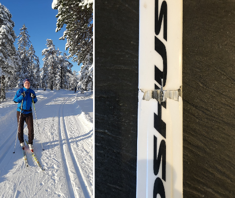 BRUKKET SKI: Det gikk hardt for seg da Stein dro ut på skitur i helgen.