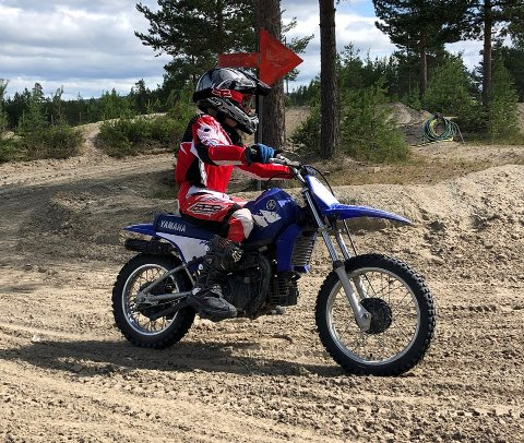 INNBRUDD: Denne motorsykkelen ble stjålet, sammen med en annen fra NMK sitt senter på Starmoen.