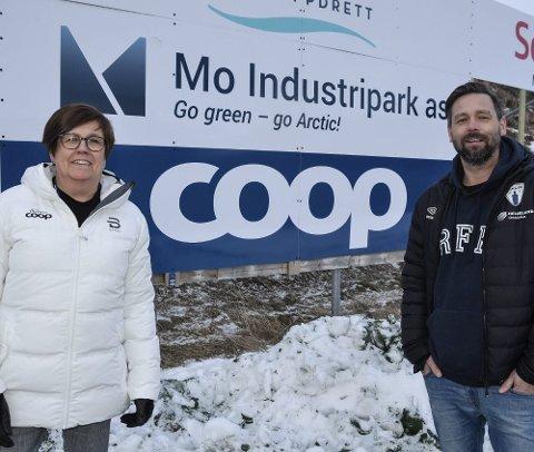 Mona Stensheim, Coop, og Rune Devig Andreassen, Rana FK.