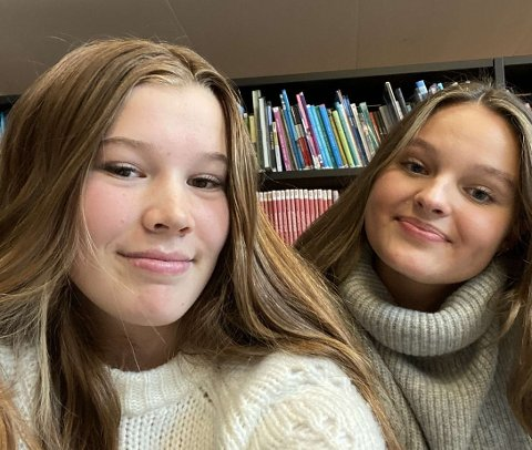 DUMT MED STREIK: Dina Bjerga og Sofia Alexandersen syns det er kjedelig med streik. Det går utover både skolehverdagen og fritiden deres.