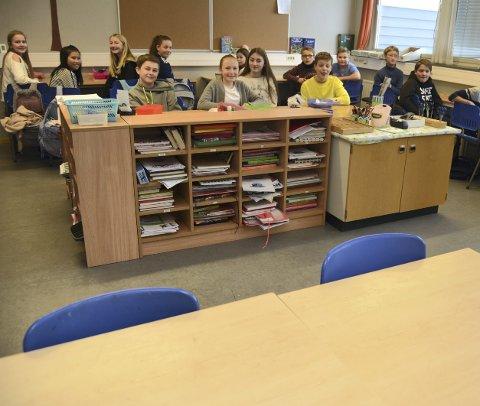 Tomme stoler: Fire stoler var tomme i klasse 7c tirsdag.