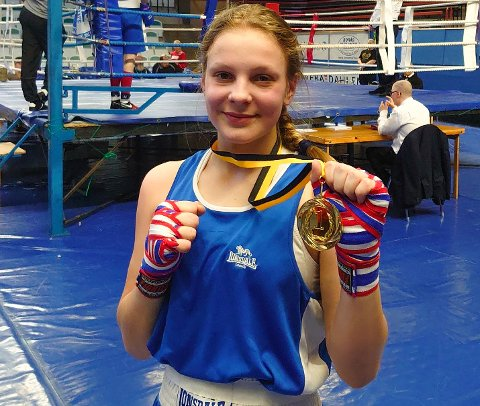 GOLDEN GIRL: Julie vant Golden Girl 2020 i Borås. Dette er verdens største kvinneturnering med over 450 kvinnelige boksere.