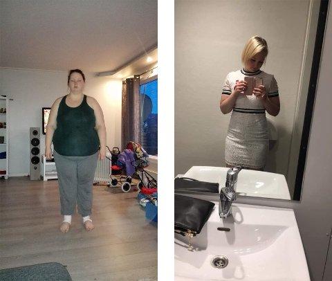 SLANKEOPERASJON: Lisbeth Pedersen (34) veide 145 kg på det meste før hun tok slankeoperasjon i 2015. Ved hjelp av riktig trening og kosthold har kiloene rast i årene etterpå.