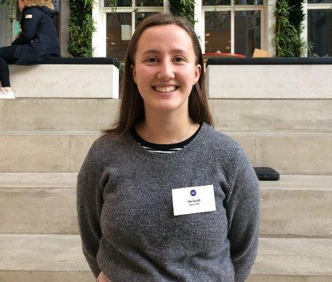 PÅ KONFERANSE: Ida Sundt fra Røros videregående skole deltok på Jentekonferansen 2019.