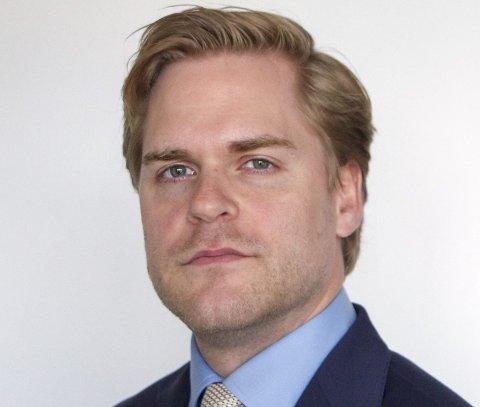 Kristoffer Sivertsen (FrP) er statssekretær i Justisdepartementet.