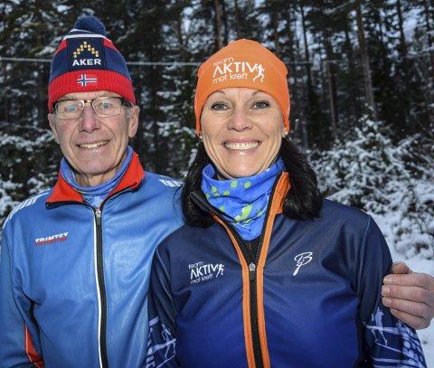 Motivator: Marit Larsens ektemann Helge skal være trener for Ann Karin og skal også bli med til New York.