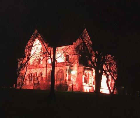 SLO TIL: Det var i går kveld eller natt at tyvene slo til mot Villa Lykkeberg.
