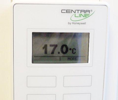 For lav: Innetemperaturen på rådhuset i Narvik.