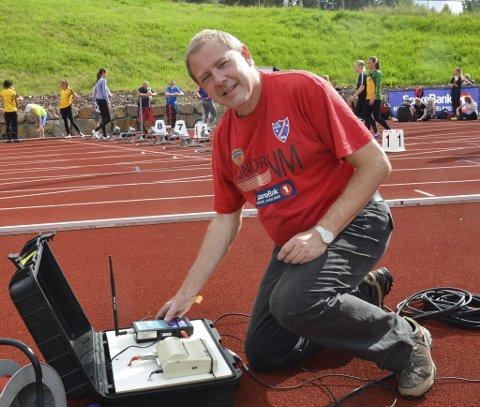 FUNKSJONÆR: Som de fleste medlemmene i Brandbu IF er også Odd Arne Røste engasjert som funksjonær under NM.