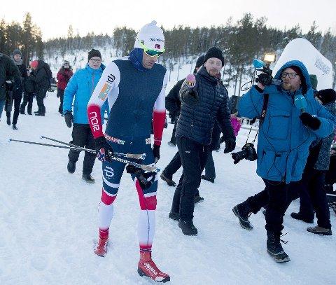 MÅ PRESTERE: Petter Northug kommer til Vang. Her må han prestere for å komme til OL.
