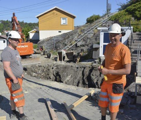 Gode arbeidsforhold: Kenneth Thorsen og Tom Inge Thorsen roser arbeidsforholdene i Møllerstubakken.