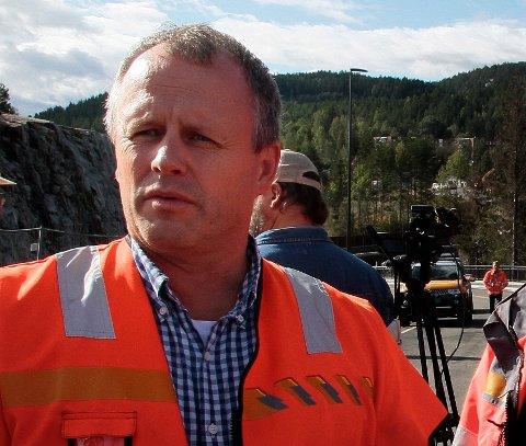 IVERKSETTER ORDRE: Tom Hedalen, prosjektleder for E134 gjennom Kongsberg,har ventet på avklaring fra Samferdselsdepartementet. Den har kommet.