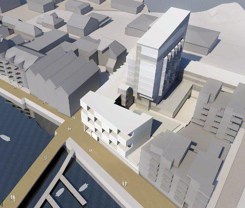 Store planer: Det utredes nå videre rundt nytt høyhus i Svolvær.