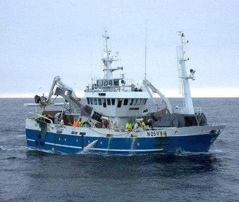 Ekstra: «Skolmen» fikk 120  tonn makell som ekstrakvote. Foto: Kjell Tore Sivertsen
