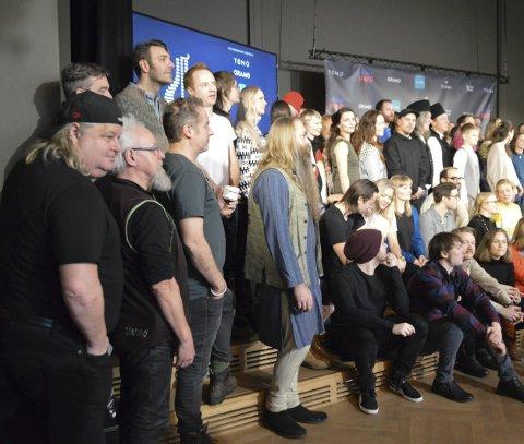 Kjendiser: Torgeir & Kjendisene til venstre, med mange av de nominerte i totalt 26 kategorier.