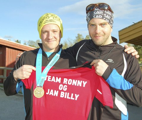 TEAM MARATON: Ronny Kristiansen (til venstre) og Jan Billy Aas er blitt til Team Ronny og Jan Billy.