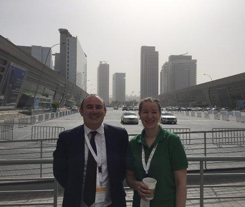 LOKKET MED: Corry Bennan i samarbeidsbedriften Global Star var den som lokket Marit Mjøen Solem til landbruksmessen i Abu Dhabi.