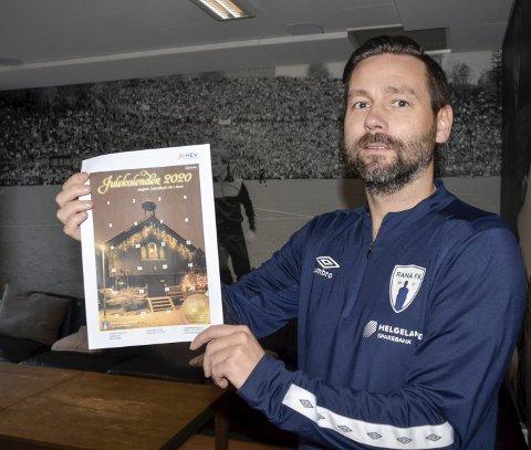 Rana FK vil tjene på sin julekalender, og det samme vil lokal handel, påpeker daglig leder Rune D. Andreassen. – Vi ønsker å ta samfunnsansvar. Foto: Trond Isaksen