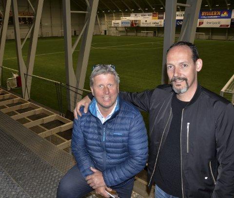 Jørgen Svarthoel og Tor Arne Nordvik er klar på at det blir Haaland Cup til høsten. – Vi er klare. Håpet er at det aller meste er gjennomførbart, sier Svarthoel. Foto: Trond Isaksen