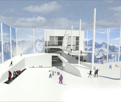INNHOLDSRIKT: SNØ blir det første innendørs vinteranlegget som kombinerer flere grener.Ill.: Selvaag/Lørenskog vinterpark