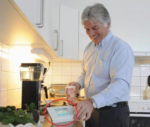 OPPFINNER: – Timingen kunne ikke vært bedre, mener Gunnar Skalberg. I 1996 utviklet han strømsparesystemet, og fire år senere stiftet han Miljøvakt AS.